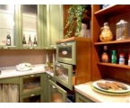 Green Brown Kitchen Cabinet – Look Natural
