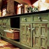 Distressed Kitchen Cabinets in an Old Look