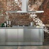 Stainless Steel Kitchen Cabinets with Sharp and Professional Kitchen Look