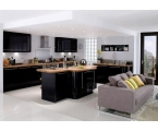 Black Kitchen Cabinet for Sophisticated Kitchen