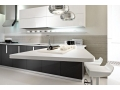 Right Organization of Black And White Kitchen Cabinets