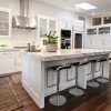 White Kitchen Cabinets with Granite Countertops for a Naturally Awesome Look