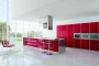 Red and White Kitchen Cabinets for Modern Interior Design