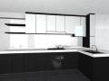 Black and White Kitchen Cabinet for a Modern Traditional Look